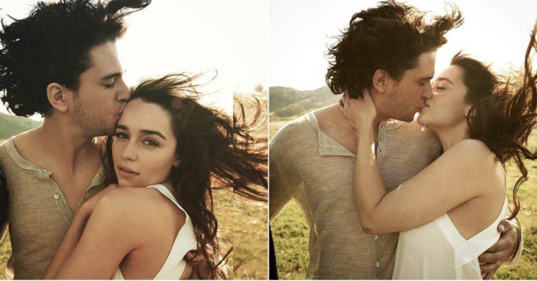 These Old Photos of Kit Harington & Emilia Clarke Kissing ... Игра Престолов Джон Сноу