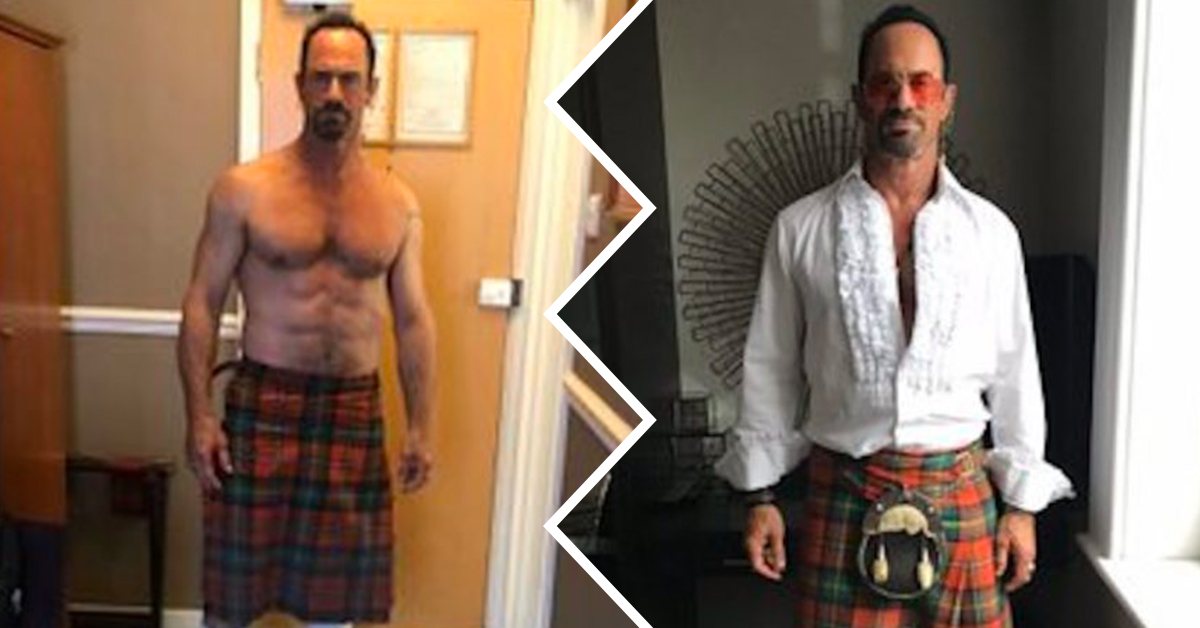 Chris Meloni runs around NYC with no pants on before being
