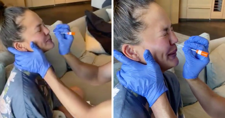Chrissy Teigen Gets Tested For COVID-19 Before Breast Implant Removal Surgery