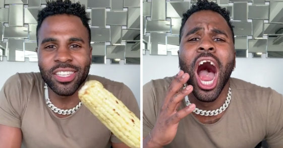 Jason Derulo teeth, Jason Derulo corn, Jason Derulo corn on the cob