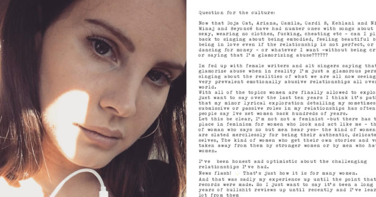 Lana Del Rey Confuses Fans With Angry Instagram Letter